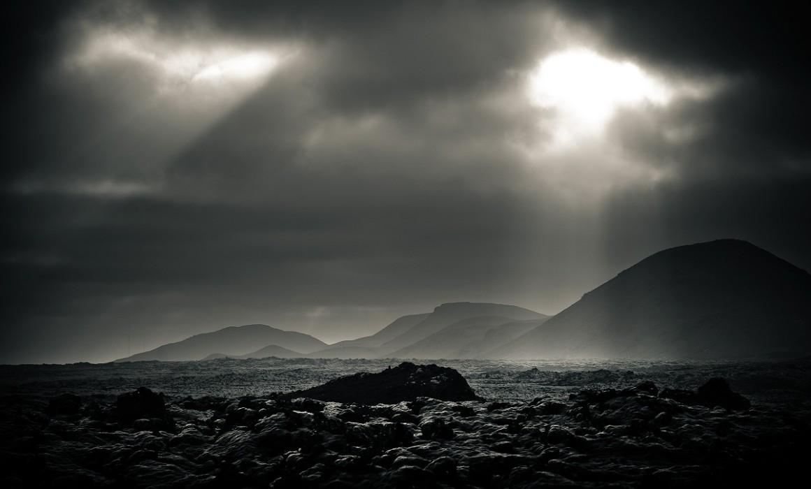 Strange Iceland landscape