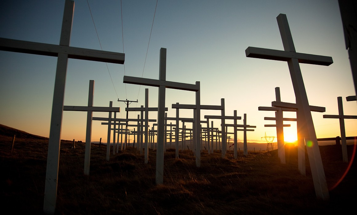 memorial crosses in iceland